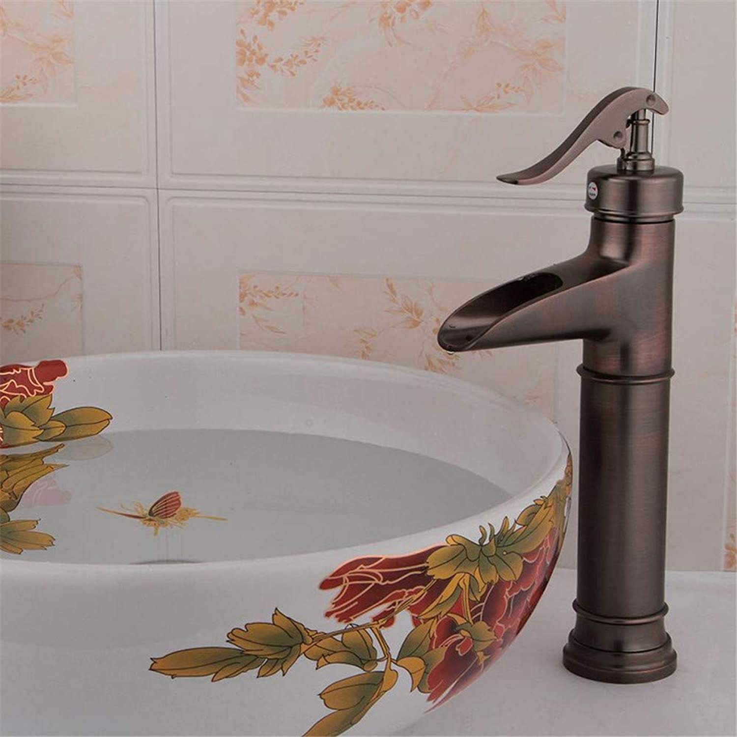 Oudan Antique gold-Plated Faucets Classic European-Style Fashion Mix Faucet Sanitary Ware Basin Faucet (color   -, Size   -)