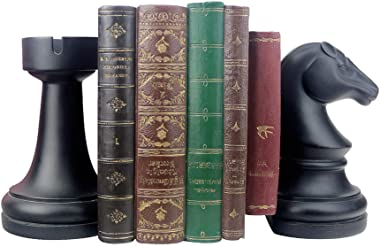 Decorative Bookends, Unique Book Ends - Supports for Heavy Books, Home Decor Suitable for Office, Home, 7(L) x4(W) x7(H) inch