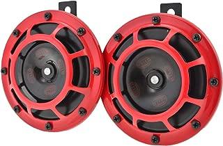 Hella 003.399-842 Red Grill Super tone Horn Set (12V,300/500 Hz,105-118 dB @ 2 m)