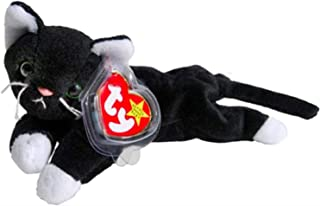 Ty Beanie Babies Zip The Black Cat with White Paws