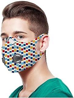 NINGNETI Reutilizable y Lavable Faciales visera con Carb/ón Activado Filtro Antipolvo Antivaho Protector Faciales al aire libre NKZ-0428A90 Pack 1 unidades 1 unidades Filtro