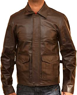 New York Lambskin Leather Indiana Jones Leather Brown Jacket