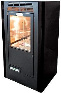 Tecno Air System Ruby Compact Independiente Bioetanol Negro - Estufa (Independiente, Negro, Cerámico, 5 L, LCD, Botones)