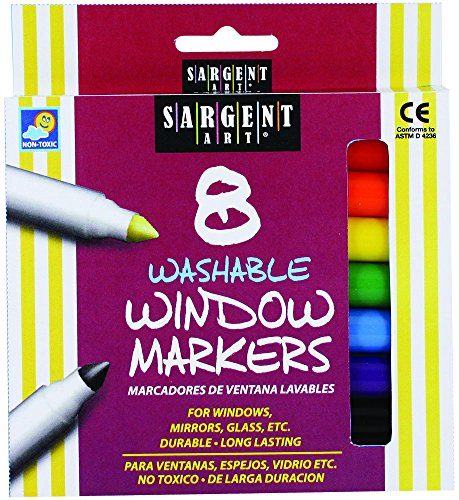 Sargent Art 22-1567 8-Count Washable Window Markers,Assorted