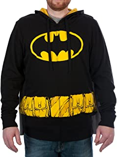DC Comics Batman Mens Cosplay Hoodie with Ears and Cape