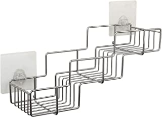 Aneerx Shower Caddy Organizer-Powerful Adhesive Sticker Bath Shelf Storage - Bathroom Combo Tub Organizer Shampoo, Conditioner, Razor - Rustproof Stainless Steel - Kitchen Rack - No Drilling