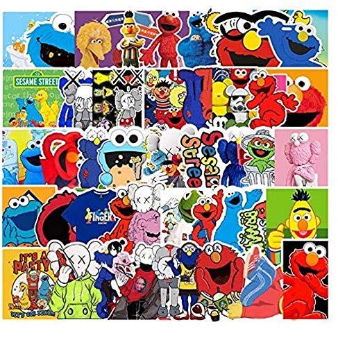 JZLMF 50 pegatinas de dibujos animados para teléfono móvil y ordenador, diseño de guitarra, locomotora, scooter, decoración de coche, 50 unidades