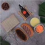 Tragbares Bart-Kit mit Aufbewahrungstasche Bartpflege-Kit für Großvater-Geschenk zum Vatertagsgeschenk für Freund für Mann