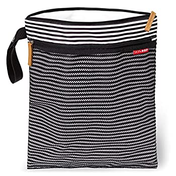 Skip Hop Wet Dry Bag Grab & Go Black & White Stripe