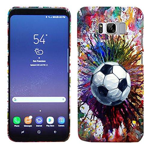 Glisten - Designer Hard Plastic Case for Galaxy S8 Plius - Vintage Color Soccer Hard Plastic Back Cover. Slim Profile Cute Printed Designer Snap on Case by Glisten