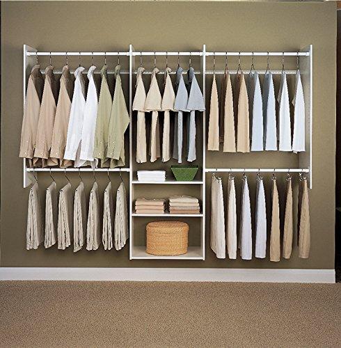Easy Track 4'-8' Deluxe Starter Kit Closet Storage, 4, White