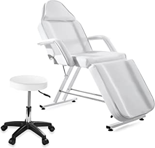 CIUTANG Massage Table Adjustable Facial Chair Tattoo Bed for Beauty Spa Salon Lash Esthetician Equipment with Rotation Sto...