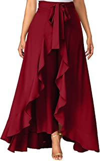 ADDYVERO Women's Solid Flared Skirt