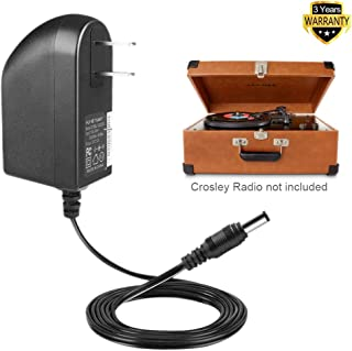 TFDirect 12V AC DC Adapter for Crosley Radio CR49 CR49-BT CR49-TA CR249 CR249-TA CR32CD CR6233A CR6233A-RE CR7002A CR7002A-PA Tech Turntable Record Player I.T.E Replacement Switching Power Supply Cord