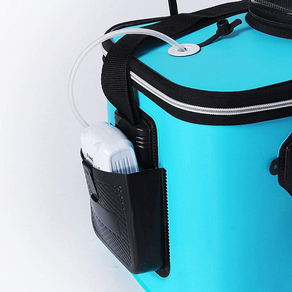 EVA Foldable Waterproof Carp Fishing Bucket Live Fish Container Camping Sur