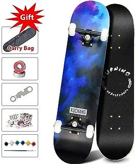Phoeros Complete Skateboards -Standard Skateboards for Beginners Starter Kids Boys Girls Youths - 31''x 8''Canadian Maple Pro Cruiser Standard Skate Boards
