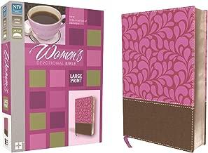 NIV, Women's Devotional Bible, Large Print, Leathersoft, Brown/Pink