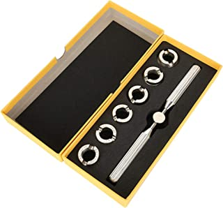 Wrench Dies Repairer Tool Set, 5537 Watch Back Screw Case Cover Opener Remover Kits Wrench Grooved Dies for Rolex Oyster