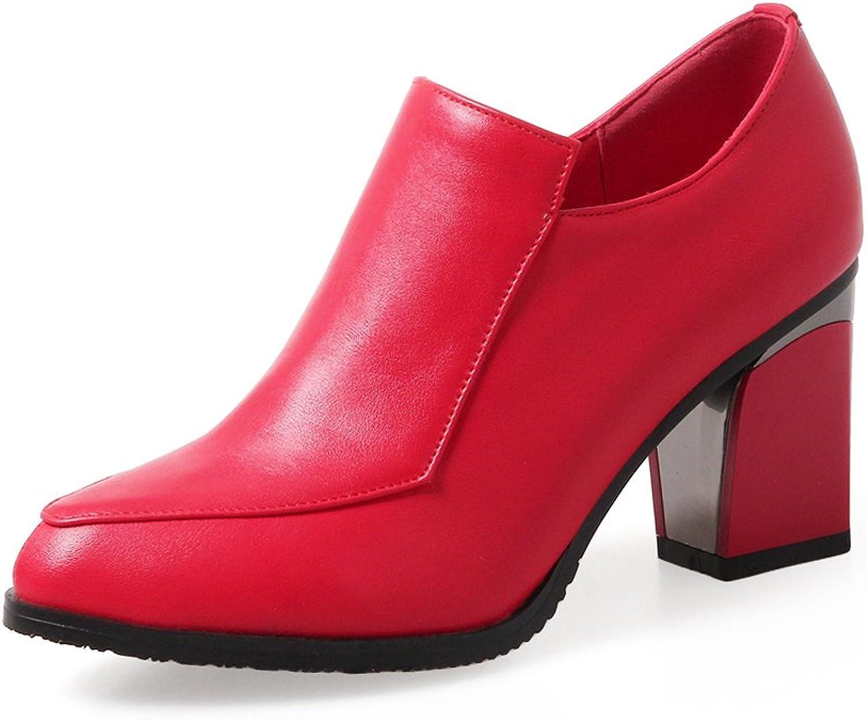BalaMasa Womens No-Closure Solid Pointed-Toe Urethane Pumps shoes