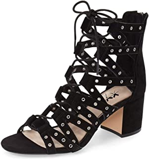 XYD Stylish Strappy Gladiator Sandals Open Toe Lace up Ankle High Booties Low Heels for Women