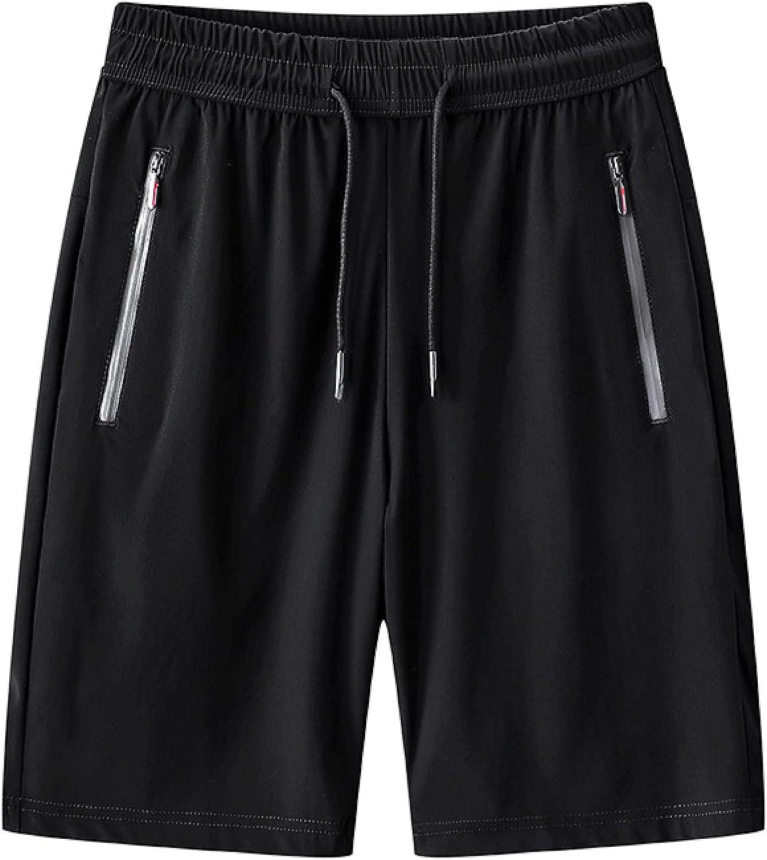 Segindy Men's Quick Dry Beach Shorts Summer Casual Drawstring Elasticated Waist
