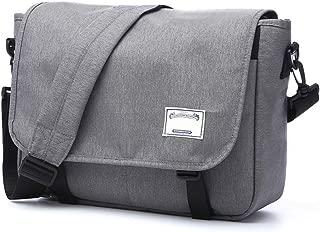 Arder Men's Shoulder Bag Messenger Bag Canvas Briefcase Fashion Casual Bag Vintage Style Student Shoulder Bag Relaxed (Color : Gray)