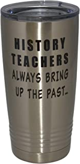 Funny History Teacher 20 Oz. Travel Tumbler Mug Cup w/Lid Vacuum Insulated School Professor Teaching Educator Gift