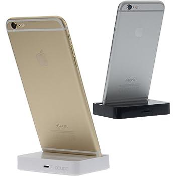 doupi Dock Station d'accueil pour iPhone 5 5C 5S Se, iPhone 6 / 6s / Plus, iPhone 7/7 Plus, 8/8 Plus, iPhone X, XS, XS Max, XR, iPod Chargeur Données Transmission Titulaire - Blanc