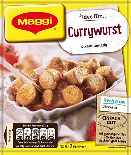 Maggi fix & frisch für Currywurst, 40er Pack (40 x 40 g)