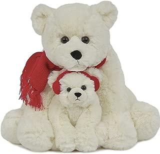 Bearington Snowflake and Frosty, Plush Stuffed Animal Polar Bear, 14
