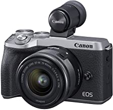 $945 » Canon USA EOS M6 Mark II Mirrorless Camera, (Silver)+Ef-M 15-45mm F/3.5-6.3 is STM + Evf Kit (Renewed)