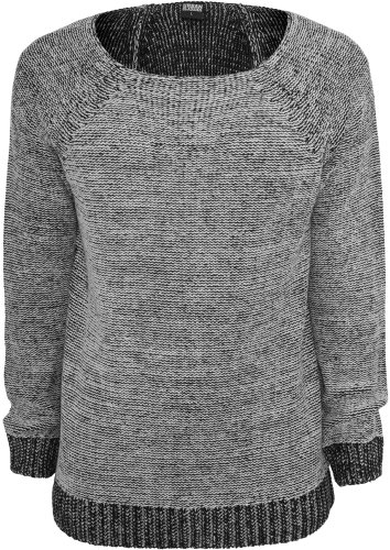 Urban Classics Wide Neck Sweater Pull, Gris (Grey 00111), X-Large Homme