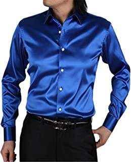 CBTLVSN Men Slim Fit Dress Shirt Dance Prom Party Button Down Shirts
