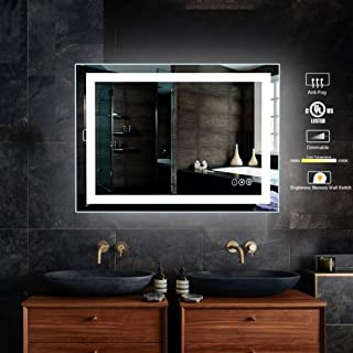 """32 x 40 inch Bathroom Vanity Mirror, LED Backlit+Wall Mounted + Defogger & Dimmable Touch Switch + UL Listed + Polished Eadge &Frameless + 5500K Cool White +3000K Warm + CRI>90 + Vertical&Horizontal"""" width=""""200″ height=""""200″ /></td> <td><a href="""