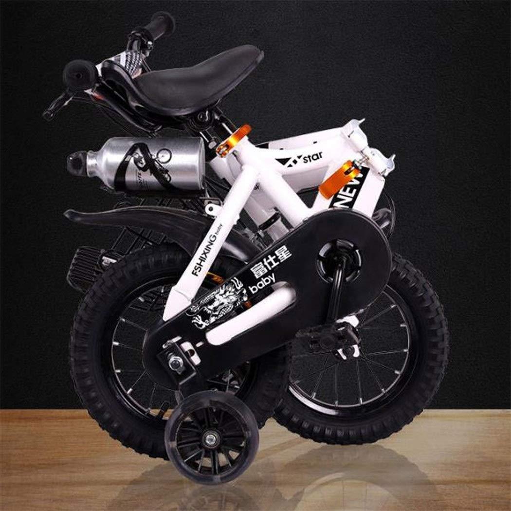 JLASD Bicicleta Bicicletas niños, del niño Plegable Bicicleta de Entrenamiento Bicicleta de los niños de 2-8 años En Tamaño Soporte for Botella de 12/14/16/18 Pulgadas con Agua: Amazon.es: Deportes y aire libre