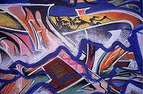 ZZXIAO Murales decorativos de pared Vinilo decorativo Papel fotográfico Personalidad Calle Grafiti Tendencia animal Pared Decoración Fotomural sala Pared Pintado Papel tapiz no tejido-350cm×256cm