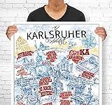 Lieferlokal Stadtposter Karlsruhe in limitierter Auflage -
