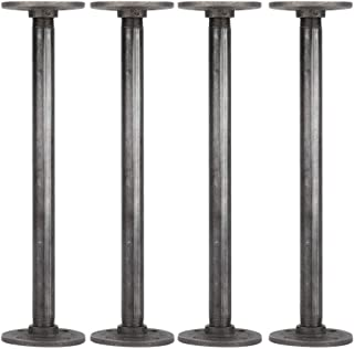 Best Rustic Industrial Pipe Decor Table Legs,Authentic Industrial Steel Grey Iron Fittings, Flanges and Pipes for Custom Vintage Tables and Furniture Decorations, DIY Kit with Hardware, (12-inch) Review