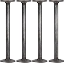 Rustic Industrial Pipe Decor Table Legs,Authentic Industrial Steel Grey Iron Fittings, Flanges and Pipes for Custom Vintag...