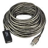 Link-e Cable alargador USB 2.0, Macho a Hembra, 5 o 10 m de Longitud, repetidor, extensión, prolongador.