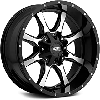 Moto Metal MO970 Gloss Black Machined Face Wheel with Painted and Chromium (hexavalent compounds) (16 x 8. inches /6 x 78 mm, 0 mm Offset)