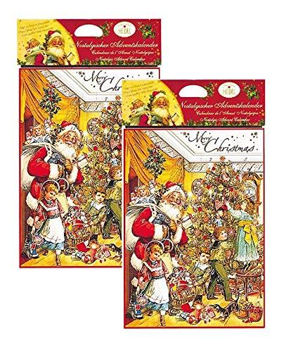 Heidel Confiserie Calendario dell'Avvento Linea Nostalgia Cioccolatini al Latte Qualità Superiore Cacao Minimo 37% - 2 x 75 Gram