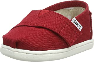 TOMS Kids Unisex Alpargata 2.0 (Infant/Toddler/Little Kid) Red Canvas 10