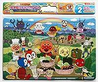 アンパンマン 天才脳はじめてのパズル 55ピースD やさい収穫 グッズ アニメキャラクター 知育玩具 B4サイズ あんぱんまん