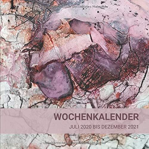 Wochenkalender Juli 2020 bis Dezember 2012