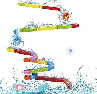 Juguetes de Baño Juguetes Bañera Puzzle DIY Pista Hora del Baño Juego Bricolaje con Bola Rodante para Niños Niñas 3 4 5 6 ...