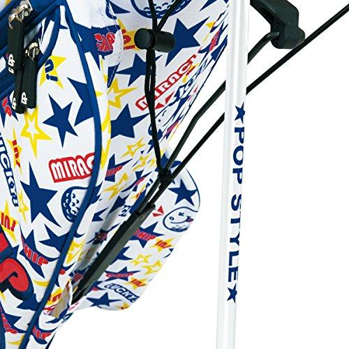 WINWINSTYLE(ウィンウィンスタイル)キャディーバッグPOPSTYLEMIRACLECHIPIN!LSTLightWeightStandBag9.0型47インチ対応ユニセックスCB-909ブルーデザイン:総プリント&エナメルアップリケ刺繍