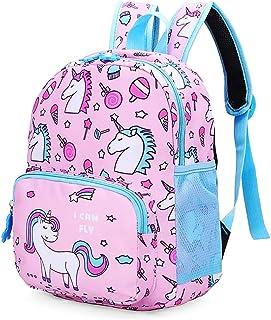 Preschool Backpack,Cartoon Animal Schoolbag for Kids,Cute Kindergarten Toddler backpack for Kid Children Elementary Student Bookbags Lunch Box Carry Bag for 1-6 Years Boys Girls (Unicorn_Pink)