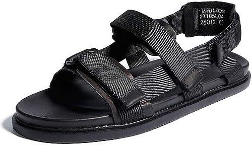 GanSouy Hommes Sandales Gladiateur Vacances à à Bout Ouvert Beach Trekking Sports d'été en Plein air Léger Athlétique Décontracté Chaussures Noir  remise élevée