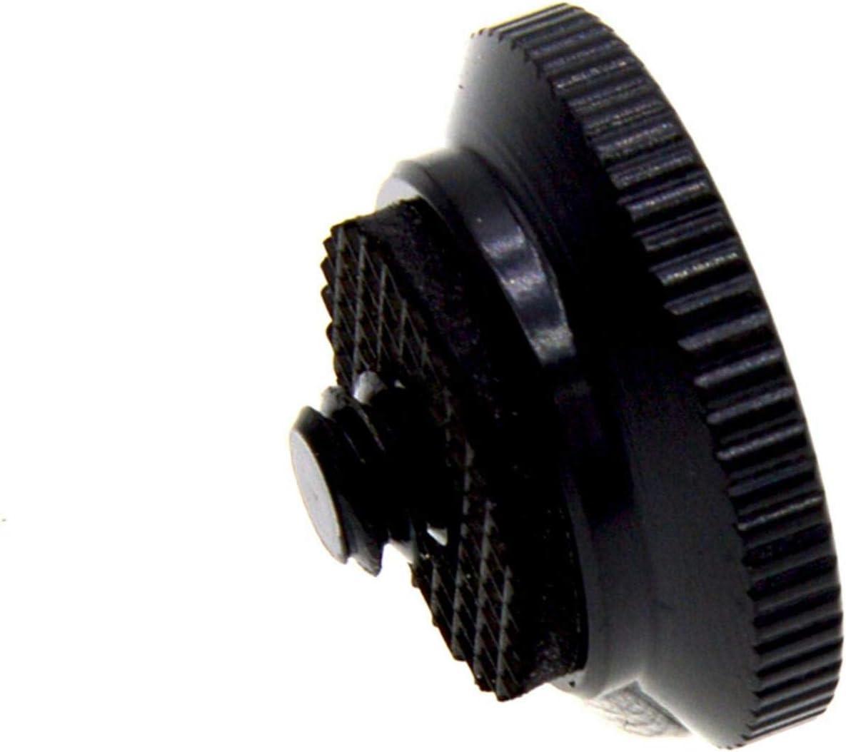 Zapata redonda de liberaci/ón r/ápida para cabezal de tr/ípode para tr/ípode Manfrotto Compact Action para monopi/é con tornillo de 1//4 pulgadas